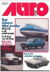 Subaru Mini Jumbo Mercedes 190 Pontiac Fiat x 1/9 Renault 9